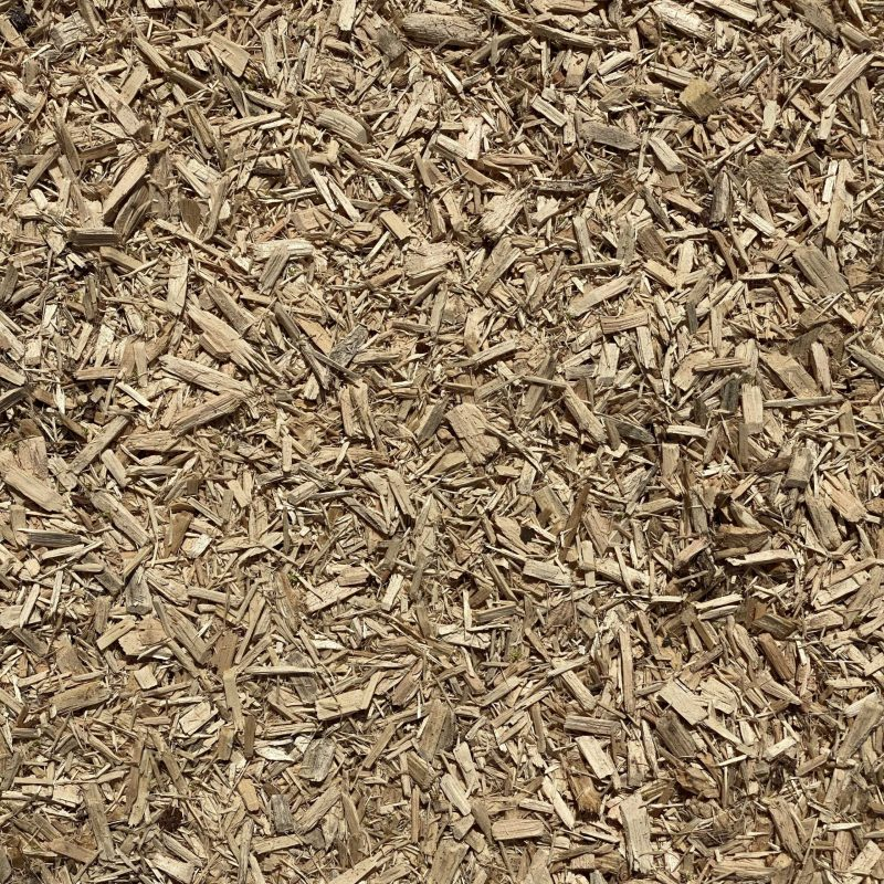 Pictured is our playground mulch. It consists of light brown wood chips.