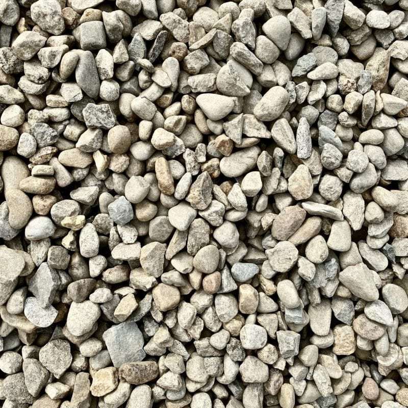 """Pictured is our 1.5"""" stone! Is is a light gray color!"""