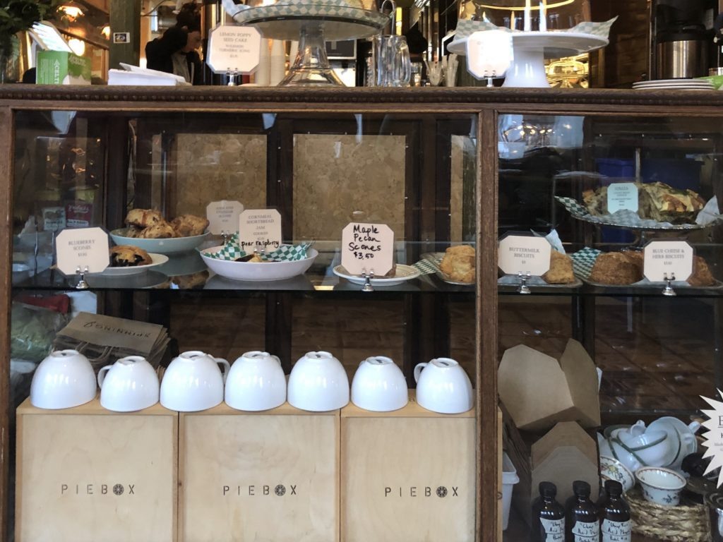 Pastries and scones on display