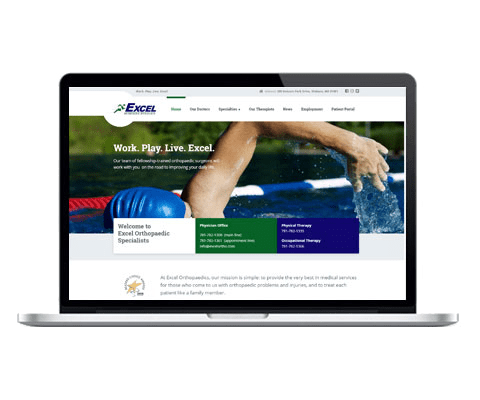 Excel Orthopaedic Specialists Web Design