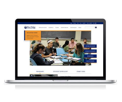 Blue Ridge Community College Website Screenshot 2019