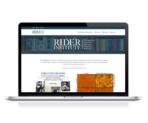 Rider Institute Website Screenshot