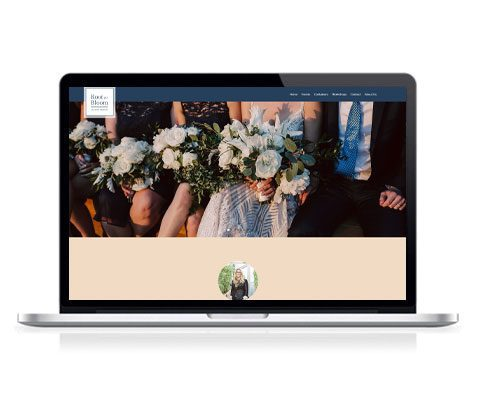 Root to Bloom Custom Designs Website Screenshot
