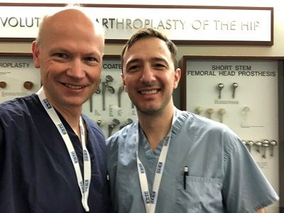 Dr. Czarnecki and Dr. Kozanek in Chicago teaching arthroscopic surgery to residents for the Arthroscopy Association of North America