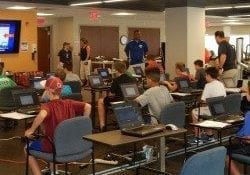 Students learning during ImPACT Concussion Program