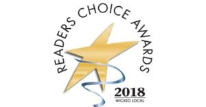 2018 Wicked Local Readers Choice Awards logo