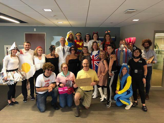 Excel Physical Therapy team dressed up to celebrate Halloween